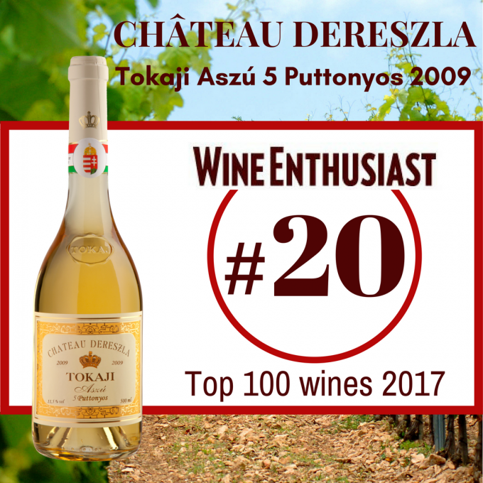 Tokaji Aszú 5 Puttonyos 2009 – Wine Enthusiast Rating #20