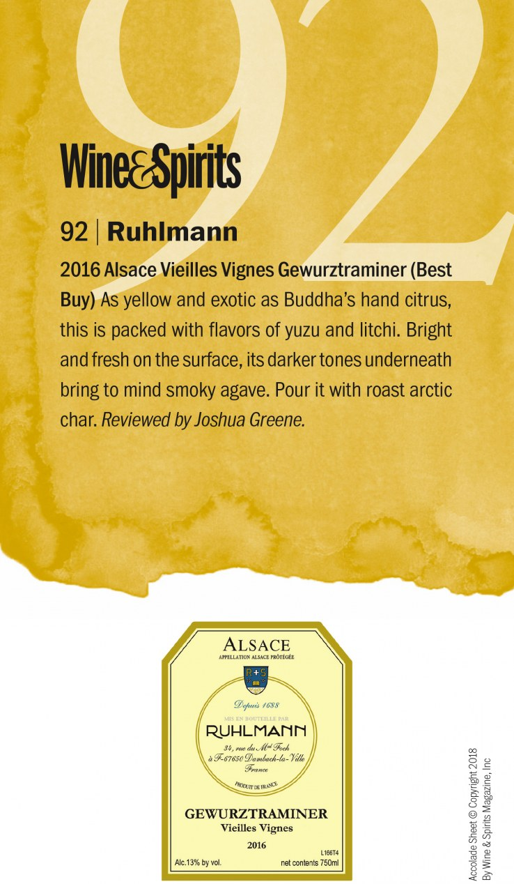 92 pts_Gewurztraminer Wine & Spirits