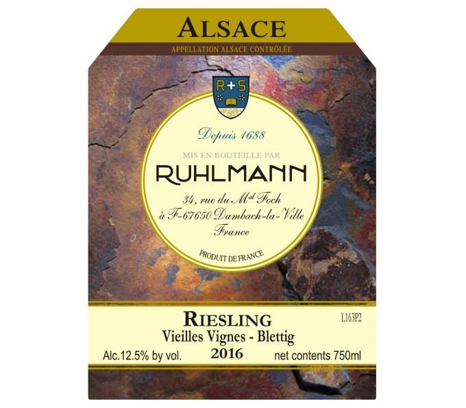 Ruhlmann_Riesling Vieilles Vignes 2016_label