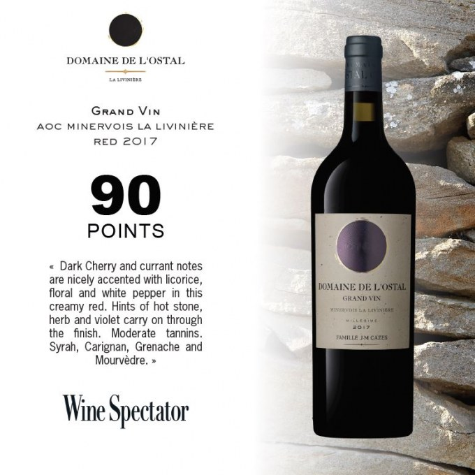 Domaine de L'Ostal Grand Vin Minervois La Liviniere 2017